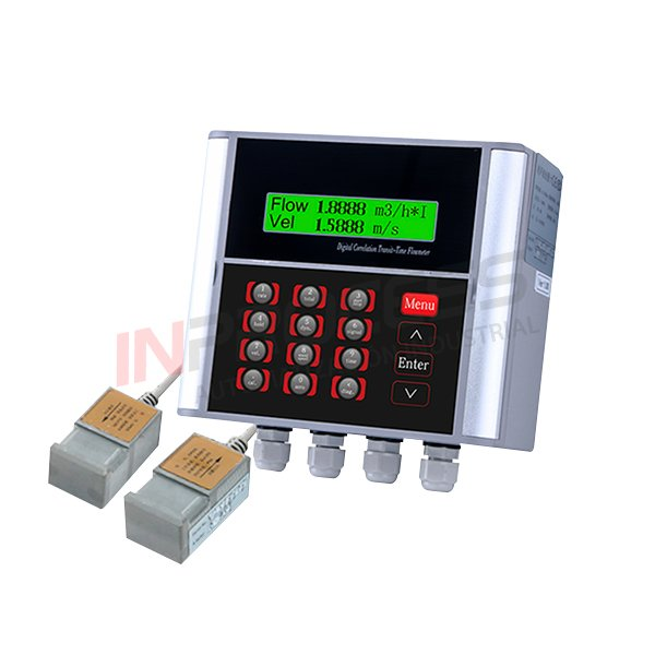 Flujómetro ultrasónico para montaje en pared